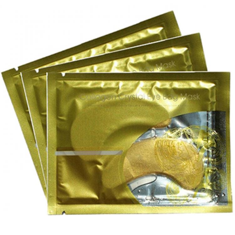 Guldplåster är en behandling för att minska påsar under ögonen.