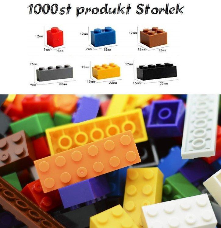 Stor Basplatta o 1000 delar Byggklossar Kompatibla med Lego