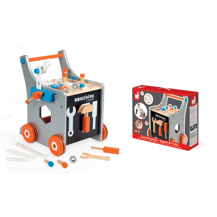 Magnetisk Lära gå verktygsvagn ink 25 olika verktyg