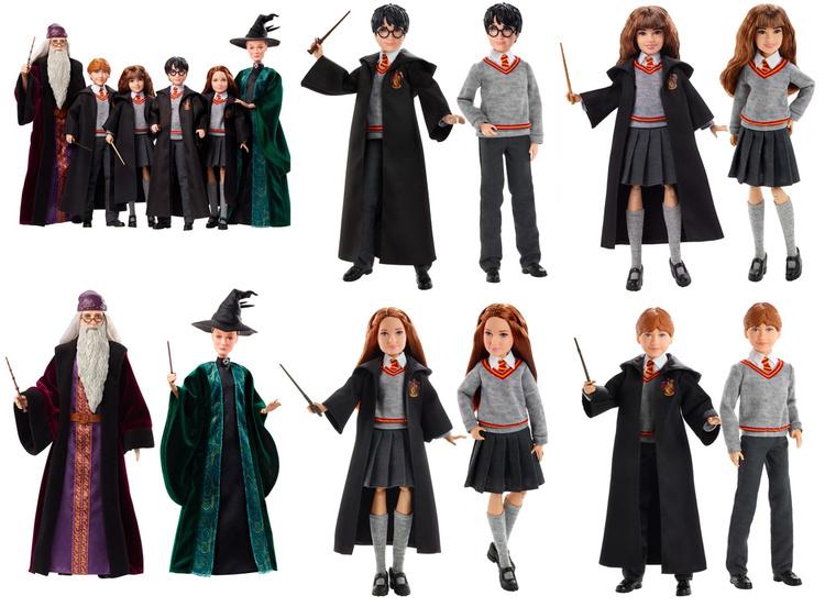 Exklusiv Rörliga Harry Potter Samling (6 Figurer) 25-30cm i höjd