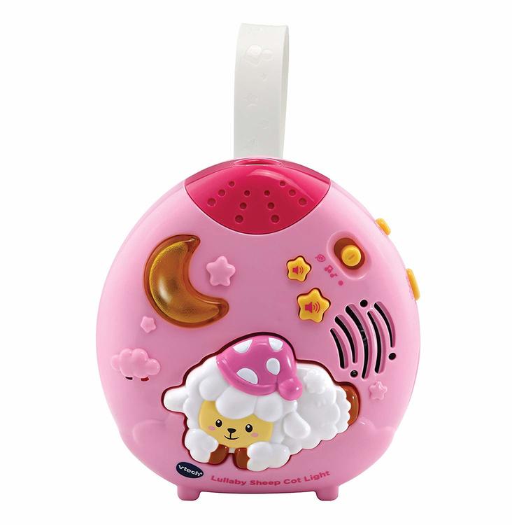 Nattlampa med en lugnande melodi när barnet gråter