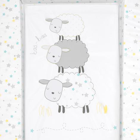 Silvercloud Counting Sheep Skötbädd för spädbarn och 3Pack Antibakteriella servetter Dödar 99,9% av bakterier