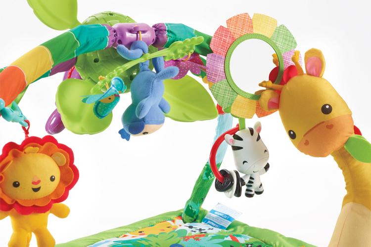 Regnskog Babygym med melodier och ljus. Från födseln