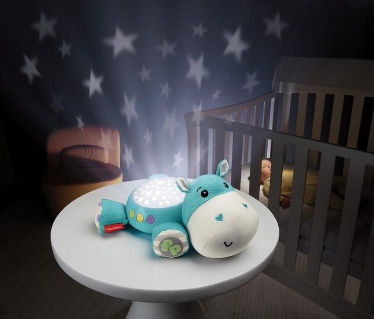 Nattlampa med stjärnklara ljus och 30 min lugnande melodier