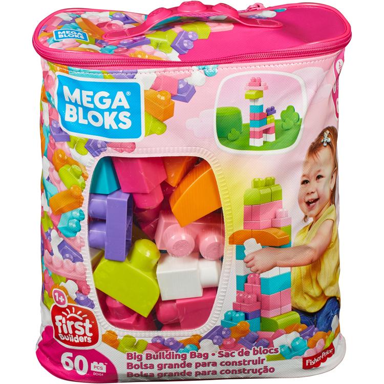 Mega Bloks - 60 delar Stora Byggklossar - Fr 12mån