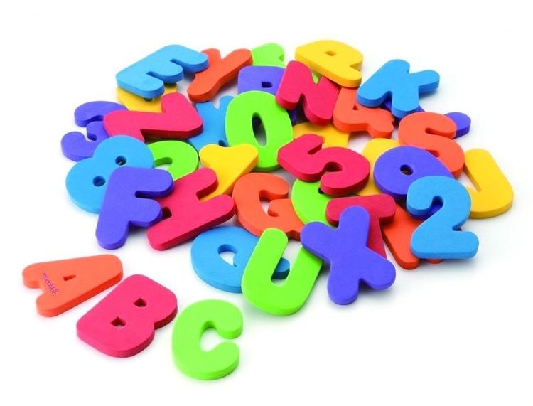Munchkin - Badleksaker Badstickers 36 Bokstäver och siffror
