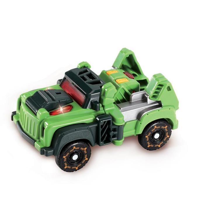 Växla mellan en Dinosaurie o en fantastisk kraftfull Bil. 3-8år