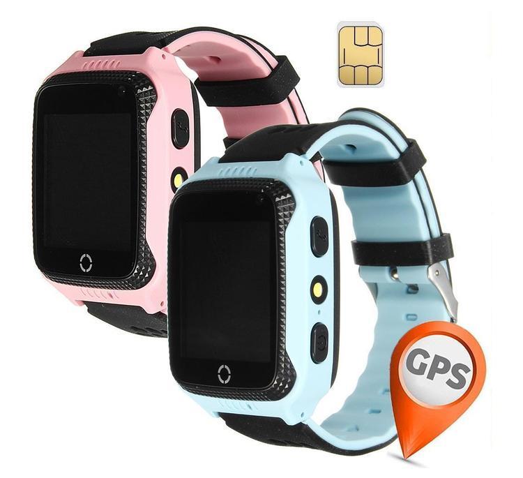 GPS+LBS Smartklocka Stegräknare mm för barn. Sim-kort Medföljer