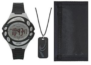 Digitalt Barnklocka set med plånbok och halsband