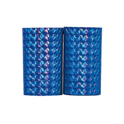 Holografiska serpentiner blå, 2-pack