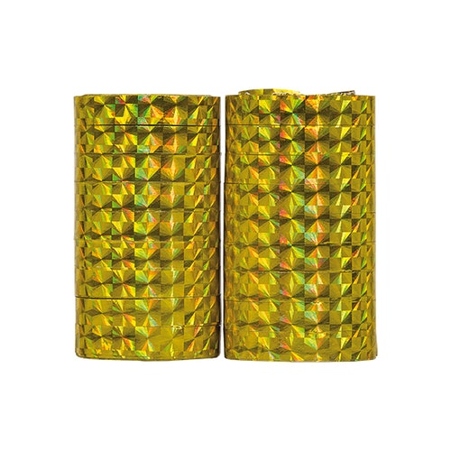Holografiska serpentiner guld, 2-pack