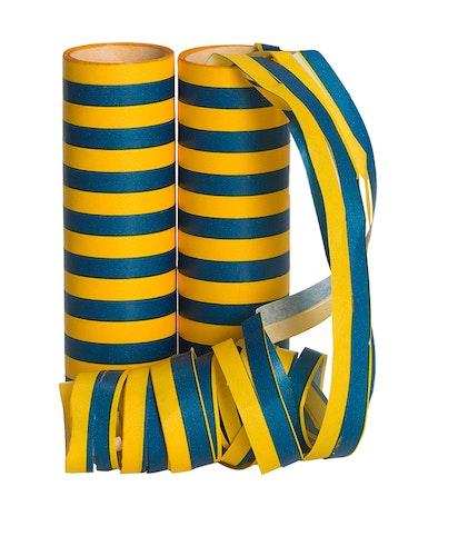 Serpentiner blå och gul, 2-pack