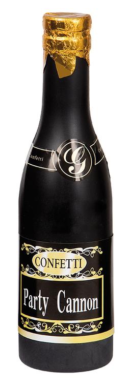 Konfettikanon champagneflaska