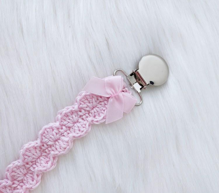 Napphållare - Rosa rosett