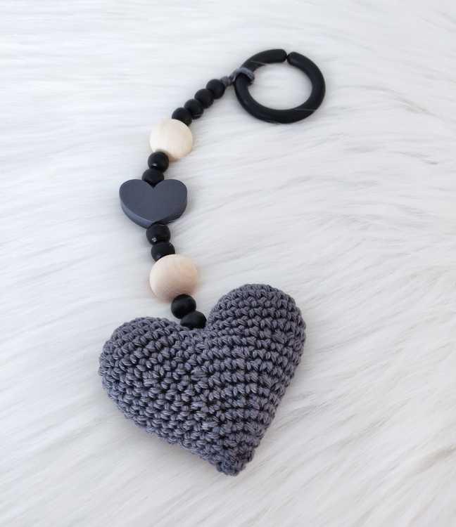 Barnvagnshänge - Grått hjärta
