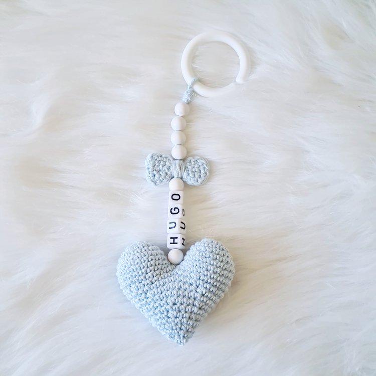 Personligt vagnhänge! Blått hjärta