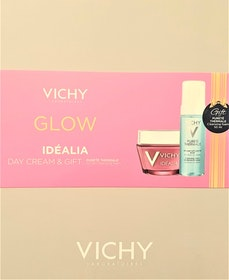 Vichy Glow - Vichy Idéalia Energizing Cream Normal Skin 50 ml, Vichy Pureté Thermale Cleansing Foam 50 ml