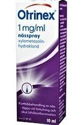 Otrinex Nässpray, lösning 1 mg/ml Xylometazolin 1 x 10 milliliter