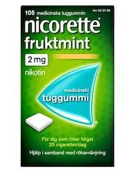 Nicorette Fruktmint Medicinskt nikotintuggummi, 2 mg, 30 st