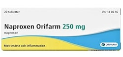 Naproxen Orifarm, tablett 250 mg 20 st