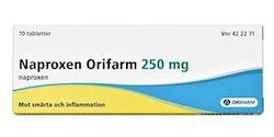 Naproxen Orifarm, tablett 250 mg 10 st