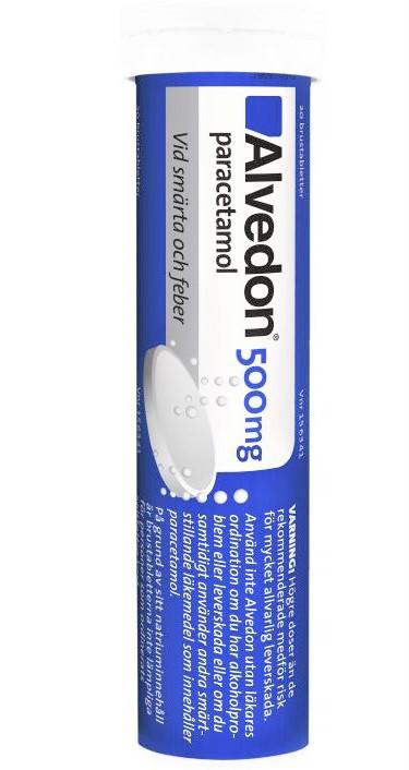 Alvedon, brustablett 500 mg 20 st
