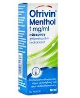 Otrivin Menthol Nässpray, lösning 1 mg/ml Xylometazolin 10 milliliter