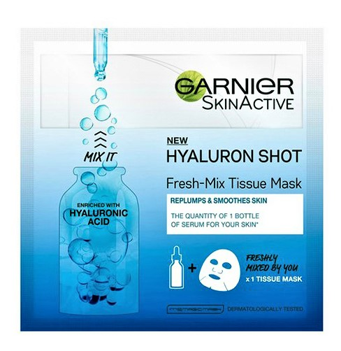 Garnier Skin Active Fresh Mix Tissue Mask Repluming Shot With Hyaluronic Acid
