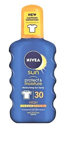 NIVEA Protect & Moisture Sun Spray SPF30 200 ml