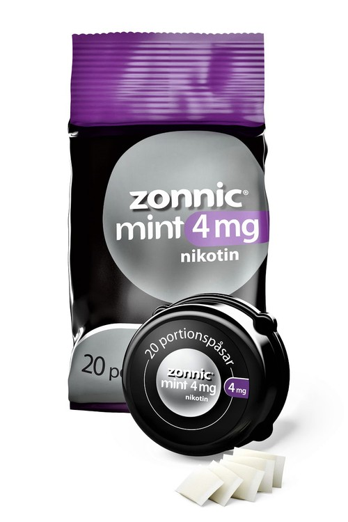 Zonnic Zonnic Mint, munhålepulver portionspåse 4 mg 20 st