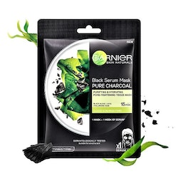 Garnier Skin Active Pure Charcoal Black Tissue Mask SkinActive Pure Charcoal Black Tissue Mask