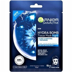 Garnier Skin Active Moisture Bomb Night-Time Face Tissue Mask