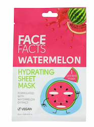 Face Facts Watermelon Hydrating  Printed Sheet Mask Vegan