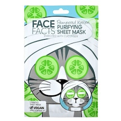 Face Facts Pampered Kitten Purifying Printed Sheet Face Mask