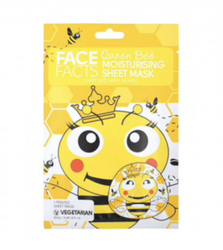 Face Facts Queen Bee Moisturising Printed Sheet Face Mask 20ml