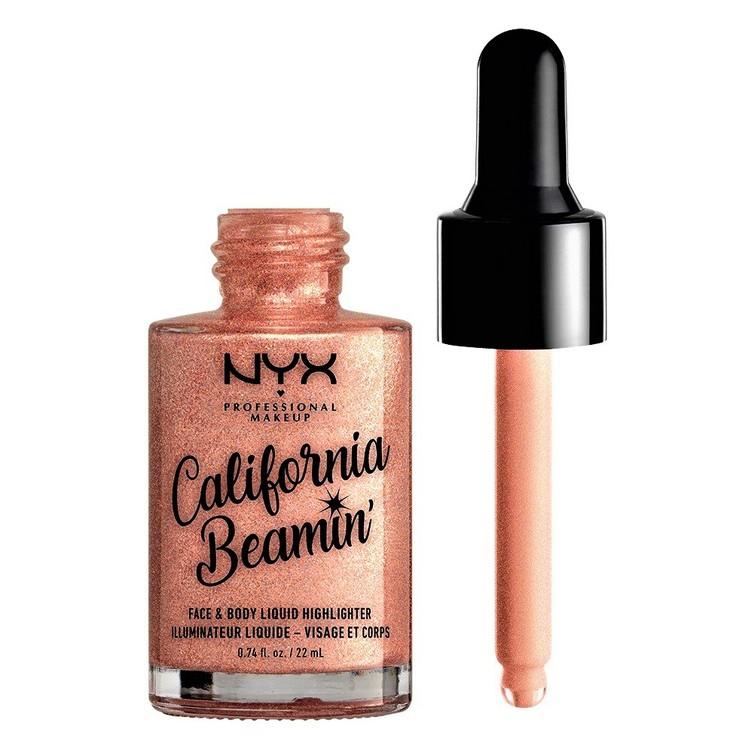 NYX Professional Makeup California Beamin' Liquid Highlighter Beach Babe