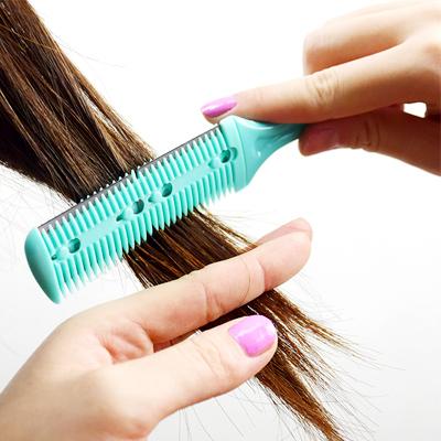 Tunna ur håret med en rakbladskam