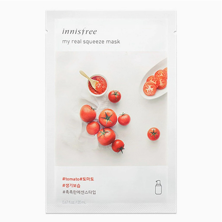Ansiktsmask tomater