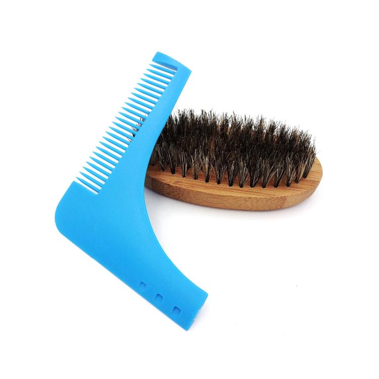 Skäggmall och skäggborste