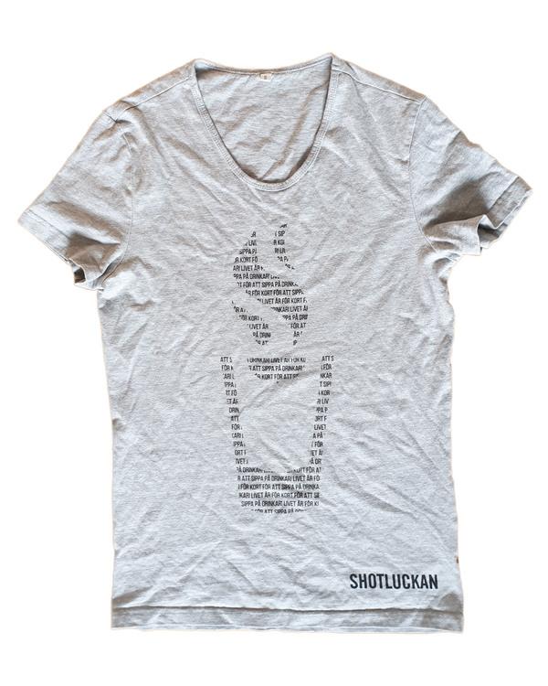 """T-shirt """"Slogan i logga"""""""