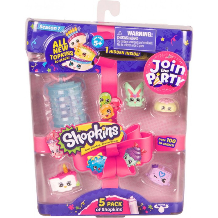 Shopkins Blister 5-pack 15x19cm