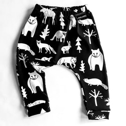 Forest animals pants