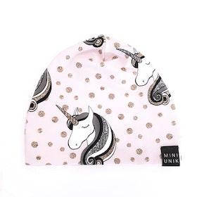 Pink unicorn beanie