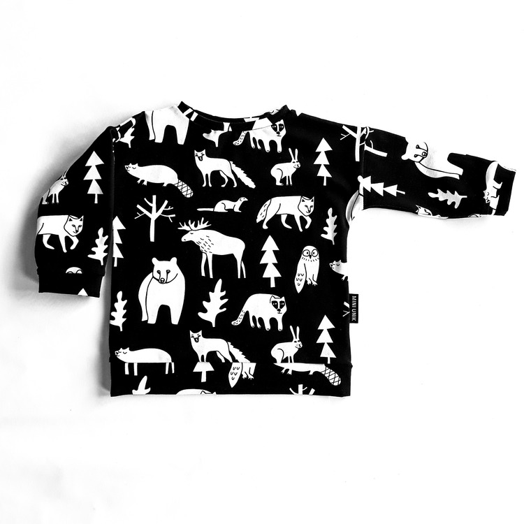 Forest animals sweater