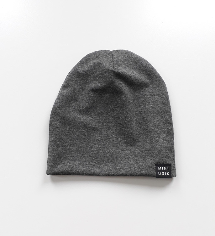 Dark Grey baggy beanie
