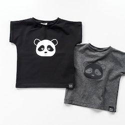 Panda Tee - Black / Dark Grey