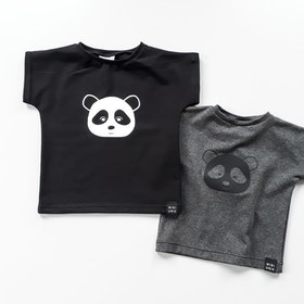 Panda Tee - Black / Dark Grey