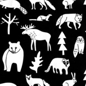 DRY BIB FOREST ANIMALS