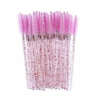 Ljusrosa Glitter fransborstar 50st