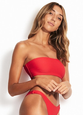 Seafolly Essentials tube Bandeau bikini top Chili